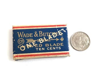Wade & Burchers Razor Blade - Vintage Razor Blade - Antique Razor Blade Collectible - Single Blade - New Old Stock Blade