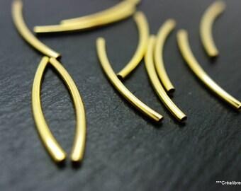 12 tube beads 35 mm gold