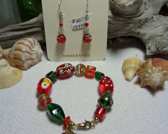 Christmas Bracelet with Lobster Clasp