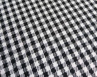Black and White Gingham Fabric - 60 Inches Wide