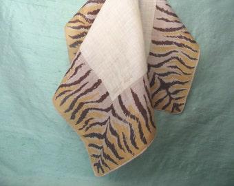 TAMMIS KEEFE handkerchief / vintage animal print leopard print hankie / designer hanky