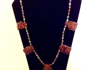 Baltic Amber with crystal bead necklace
