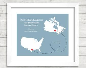Grandparents & Grandkid's Love Maps - Geraldton, Ontario, Canada - Victoria, Texas, USA - Long Distance Family - Nana and Papa - Christmas