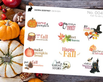 Fall to do list stickers -0046, fall stickers, autumn stickers, planner fall stickers, Happy Planner, Day Designer, Erin Condren
