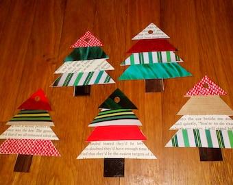 Garland of 7 Christmas trees #handmadepaper