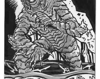 Monster persönliche Skizze Karte einzigartige Kunstwerke lokaler Künstler Original Konzept