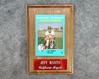 Jeff Manto Autographed Baseball Card AA Midland 1988