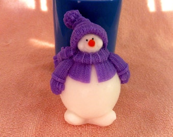 Chubby snowman - silicone mold for soap and candles making mould molds