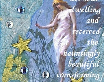 THE DEPTHS  5 X 7 PRINT inspirational collage hope fairy altered art journal healing abuse trauma recovery survivor therapy