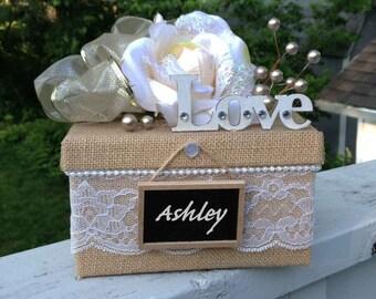 Will You Be My Bridesmaid Box,rustic,burlap,gift box,chalkboard wedding sign,Keepsake Box,Rustic Wedding Invitation,Wedding Card Box,Favor