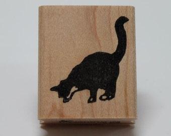 Tuxedo Cat Curioso rubber stamp