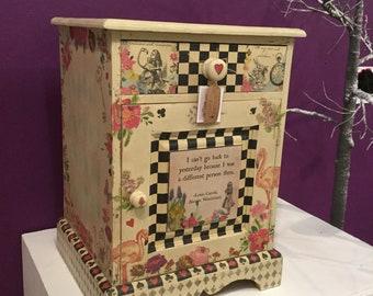 Alice in Wonderland cupboard