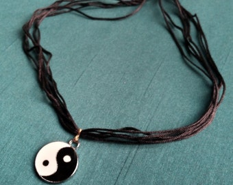 The cat - yin yang necklace