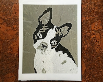 Boston Terrier Fine Art Giclee 8x10 Print