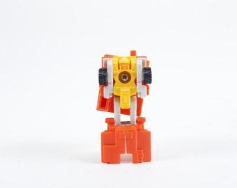 Little, Tiny, Transformer, Hasbro, Miniature Robot, Dump Truck, Plastic, Toy, Red, Children, Collection, Vintage, Nostalgia ~ 170628