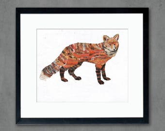Animals of North America: Red Fox Art Print