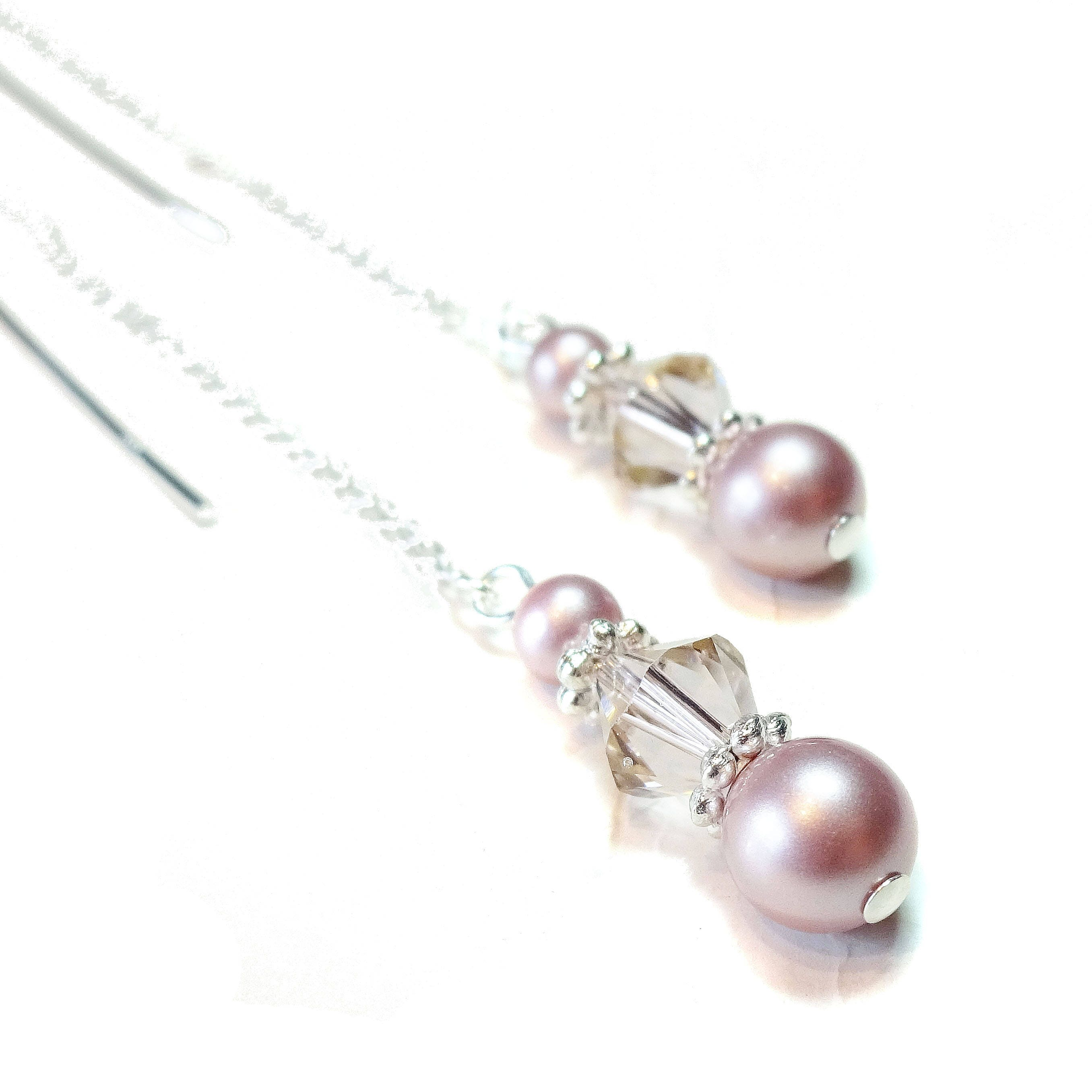 silver five multi drop plated earrings long rose chains jewellery tassel singapore strand sterling gold