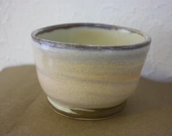 Unique marbled ceramic bowl - handmade pottery