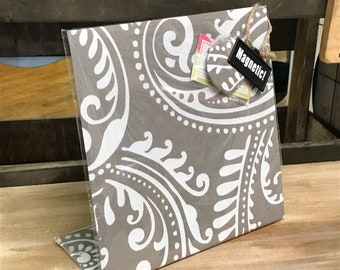 Magnet Board - Paisley Fabric Magnet Board - Choice of Color - Paisley Decor- Office Desk - Memo Board - Kitchen Organizer - Tabletop