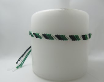 Wicked Inspired Candy-Cane Friendship Bracelet