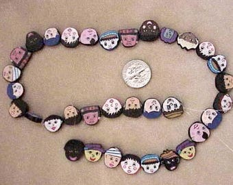 Children Of The World FIMO FACE  POLYMER 44 Beads
