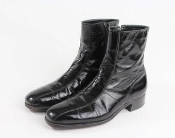 1970s Black Florsheim Beatle/Chelsea Boots