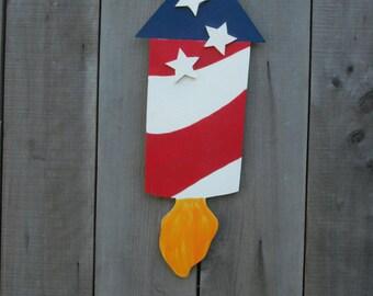 4th of July - door hanger -  July 4th - door decoration -  patriotic sign
