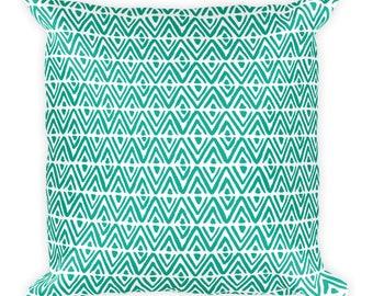 Awesome Arcadia Green Diamond - Square Pillow