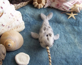 Needle felted Narwhal