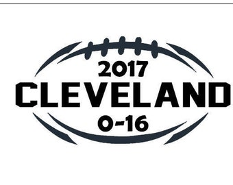 Cleveland Browns Perfect Season decal 2017