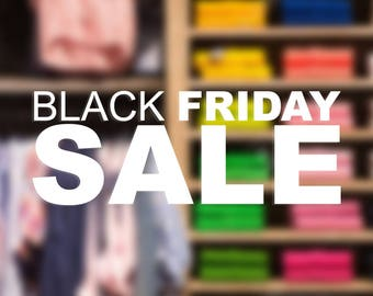 Black Friday SALE decal