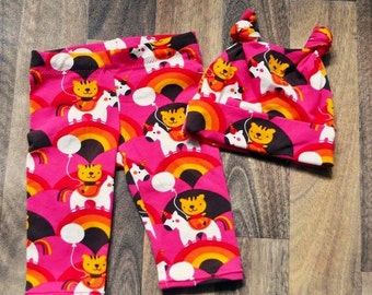 Baby leggings and hat set 0-3mths