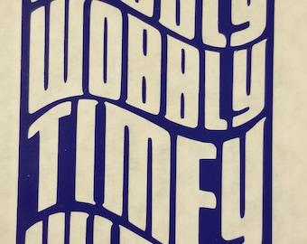 Police Box Vinyl Sticker