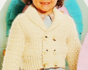 PDF Crochet Pattern Short Jacket for Girl/1 year/2 year/4 year/Instant Download Crochet Pattern PDF - A422