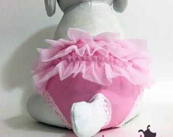 Pink Ballerina Tutu Female Dog Diaper Cover