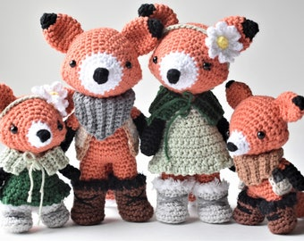 Fox Family Crochet Amigurumi Pattern / Photo Tutorial