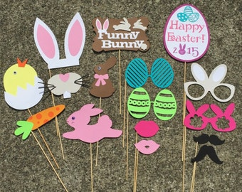 Easter Photo Props - set of 16 - Spring Photo Props, Photo Booth Props, Party Props, Bunny Props, Bright Spring Colors