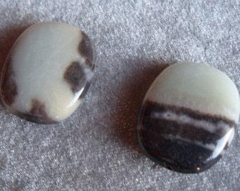 2 28mm x 24mm Natural Amazonite Gemstone Beads (160)