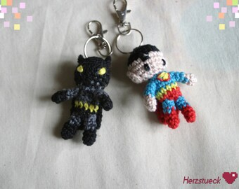 Superhero Amigurumi-charms