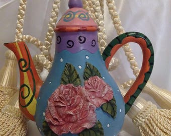 Teapot Art Milson and Louis Hand-painted