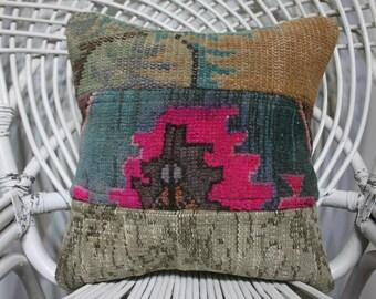 pink pillows rug pillows patchwork pillow bedding sham 16x16 kilim pillows turkish vintage pillows cushion cover 40x40 cm throw pillows 4784