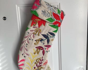 Handpainted Custom Stocking