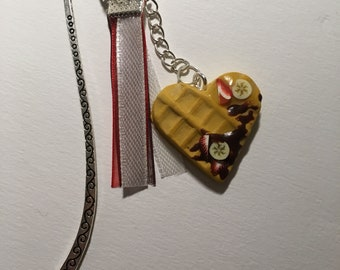 Waffle heart bookmark