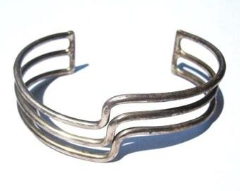 Mid Century Modern Sterling Bracelet