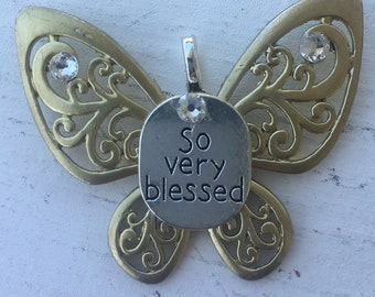 So Very Blessed Butterfly Pendant