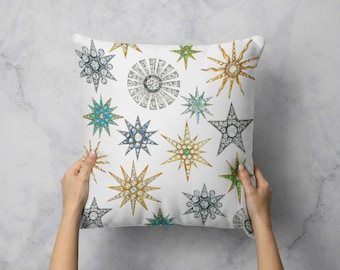Starred Brooches Pillow