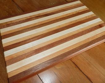 Cutting Board,  Maple Cherry Wood Cutting Board, Handmade Cutting Board, Sapele Cutting Board, Handmade Cutting Board, Hand Crafted Board