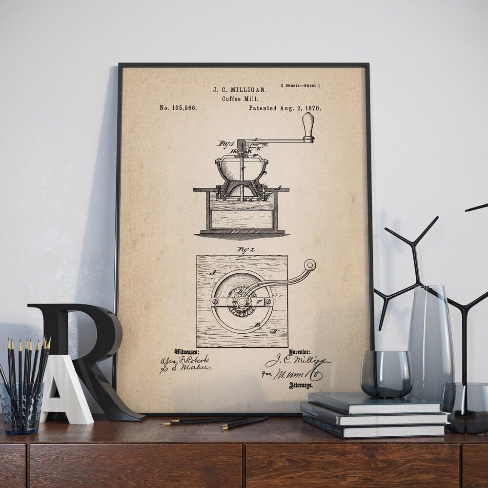 Kaffeemühle Patent Poster Plakat der Kaffeemühle Kaffee