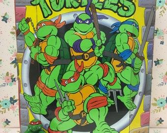 Vintage Teenage Mutant Ninja Turtles Deluxe Collectors Case ~ 11 Figures~