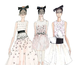 Giambattista Valli-Fashion Illustration-Fashion Print-Couture-Couture Sketch-Brooke Hagel-Brooklit